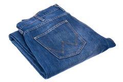 Jeans sur le fond blanc Image stock