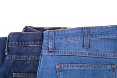 Jeans sur le fond blanc Images libres de droits