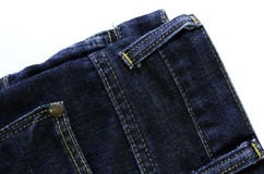 Jeans. The surface of the fabric jeans Stock Photography