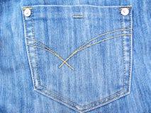 Jeans-Tasche lizenzfreie stockfotos