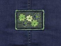 Jeans textile stock photos