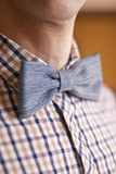 Jeans textile bow tie man. Jeans textile bow tie fashioned man Stock Images
