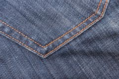 Jeans textile pocket Royalty Free Stock Photos