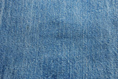 Jeans texture. The fabric surface of jeans texture in blue color Royalty Free Stock Photo