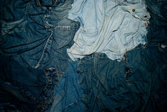 Jeans texture. Various classic jeans texture background Royalty Free Stock Photo