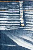 Jeans texture. Worn striped denim jeans texture with stitch Royalty Free Stock Image
