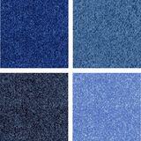 Jeans texture. Four different versions of the jeans texture. Vector Royalty Free Stock Photo