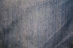 Jeans texture. Worn Blue Denim Jeans texture Royalty Free Stock Photo