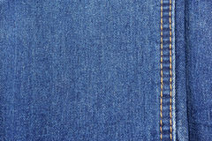 Jeans texture background with stitch. Close up jeans texture background with stitch Stock Photography