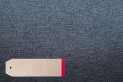 JEANS texture background with tag. Denim jeans texture background with tag Stock Image