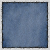 Jeans texture with burned edges Royalty Free Stock Photography