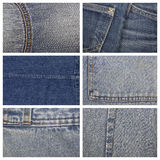 Jeans texture, can be used as background Royalty Free Stock Photos