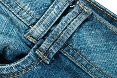 Jeans texture closeup Stock Photography