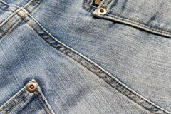 Jeans texture detail. Close-up Royalty Free Stock Image