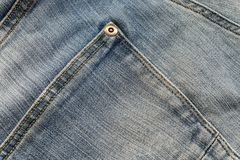 Jeans texture detail. Close-up Royalty Free Stock Images