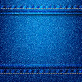Jeans texture eps 10 background Stock Photography