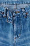 Jeans texture fragment. Jeans texture close up image Stock Photography