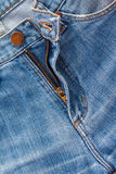 Jeans texture fragment Royalty Free Stock Photography