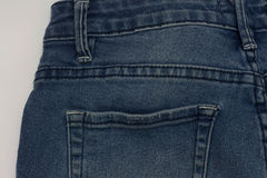 Jeans texture fragment pocket Stock Images