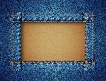 Jeans texture with frame Stock Photos