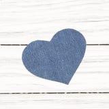 Jeans texture Heart shape Royalty Free Stock Photo