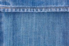 Jeans texture med seamen Arkivbild