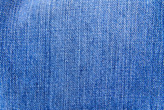 Jeans texture. Part of a blue jeans Stock Photography