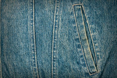 Jeans texture with pocket Royalty Free Stock Photo