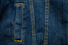 Jeans texture with pocket Royalty Free Stock Images