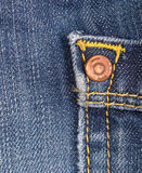 Jeans texture with rivet Stock Photo