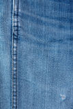 Jeans texture with seam. Blue jeans for textured with seam background Royalty Free Stock Photography