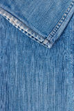 Jeans texture with seam Stock Image
