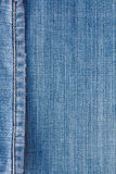 Jeans texture with seam. Blue jeans for textured with seam background Stock Photo