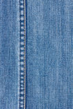 Jeans texture with seam. Blue jeans for textured with seam background Stock Image