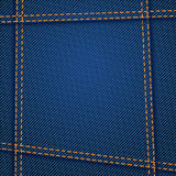Jeans texture seam. Illustration of blue color jeans texture with seams Stock Photos