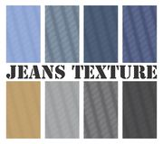 Jeans Texture Seamless Vector. Seamless  texture for multiple jeans type. All types are scalable  formats Stock Images