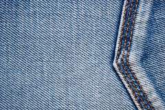 Jeans texture with seams Royalty Free Stock Photo