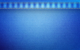Jeans texture with seams. Standard jeans texture with seams for design Royalty Free Stock Photo