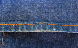 Jeans texture with seams Royalty Free Stock Images