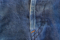Jeans texture with seams Royalty Free Stock Photography