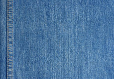 Jeans texture with stitch. Close-up Royalty Free Stock Photo