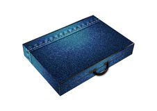 Jeans texture suitcase Royalty Free Stock Image