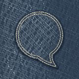 Jeans textured speech bubble Royalty Free Stock Images