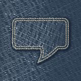 Jeans textured speech bubble Royalty Free Stock Photography