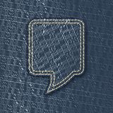 Jeans textured speech bubble Royalty Free Stock Image