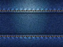 Jeans texturerar, illustrationen vektor illustrationer