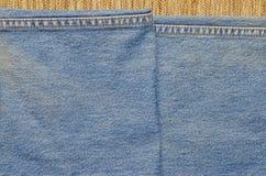 Jeans texturerar och fodrar sömnad Royaltyfri Fotografi