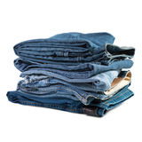 Jeans things stacked stack Stock Image