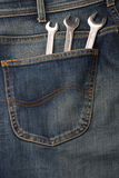 Jeans and tools Stock Photos