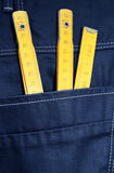 Jeans and tools Stock Photography